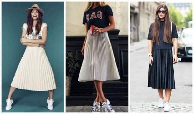 С чем носить юбку плиссе: советы по подбору одежды и обуви