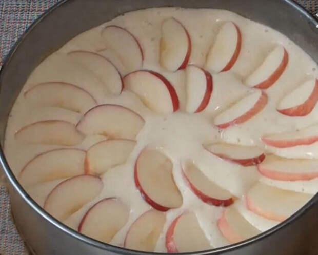 Шарлотка с яблоками классическая