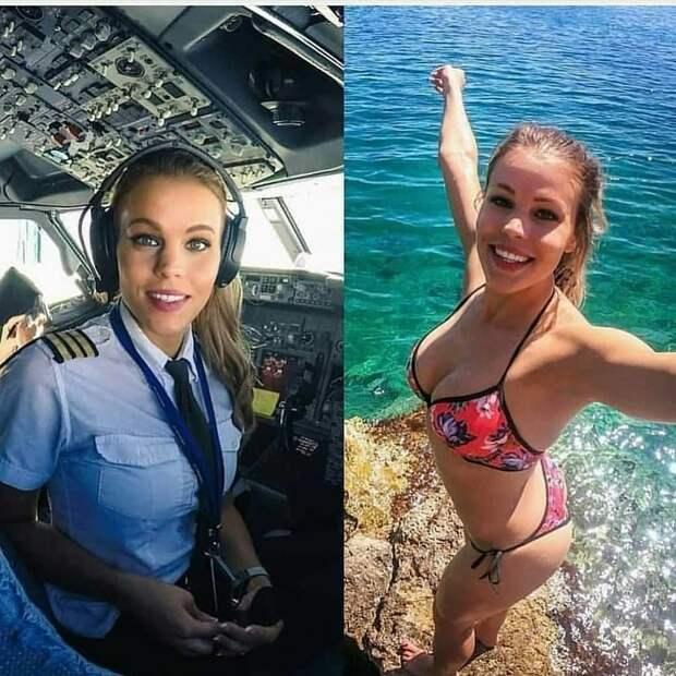 Прекрасные девушки в униформе и без девушки, девушки в форме, форма