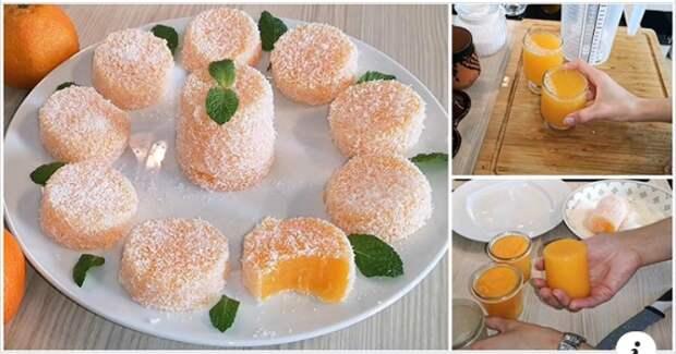 Необычный, но очень вкусный домашний десерт: мандариновый лукум