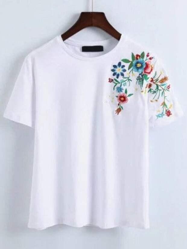Цветочные футболки (подборка)