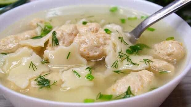Суп с мясными клецками Суп, Еда, Рецепт, Видео рецепт, Видео, Длиннопост
