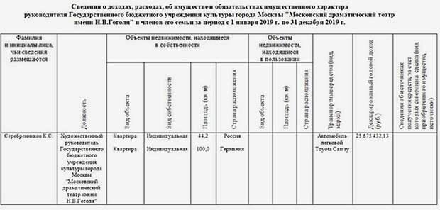 Декларация Серебренникова
