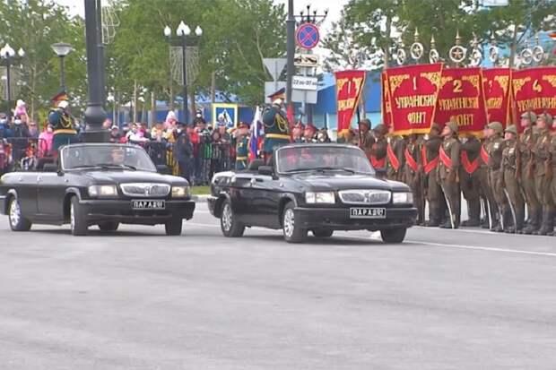 На Сахалине прошел военный парад в честь победы над Японией