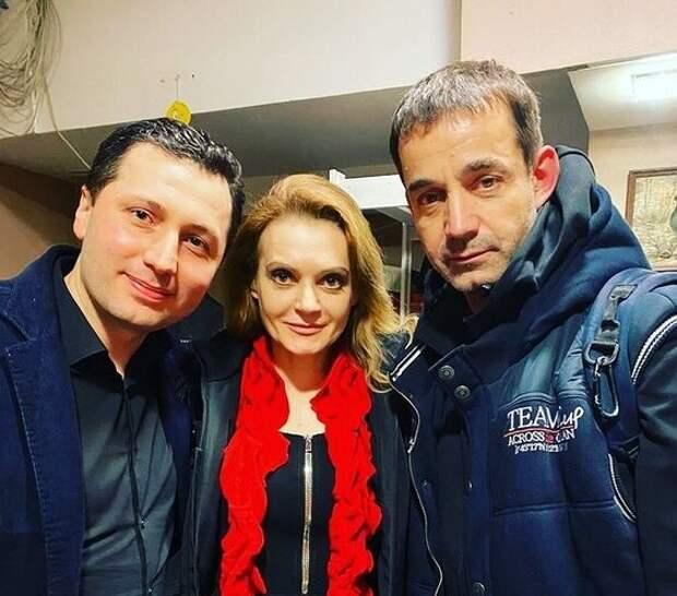 Татьяна Фатеева с мужем Игорем и актером Дмитрием Певцовым