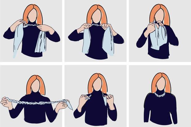 завязать шейный платок пошагово