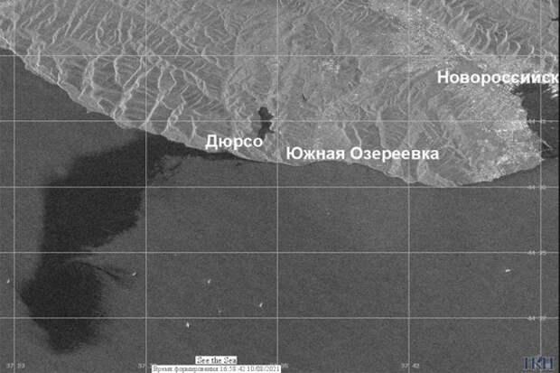 Разлив нефти в Черном море под Новороссийском просто исчез