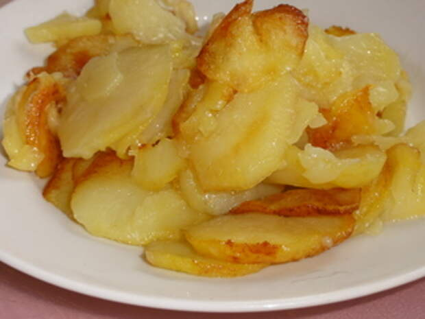 Картошечку только кружочками жарю