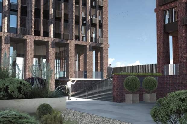 Жилой комплекс с фактурным фасадом построят в Щукине