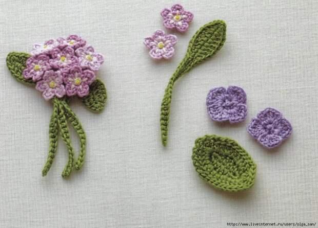 Вязаные цветы -идеи и схемы