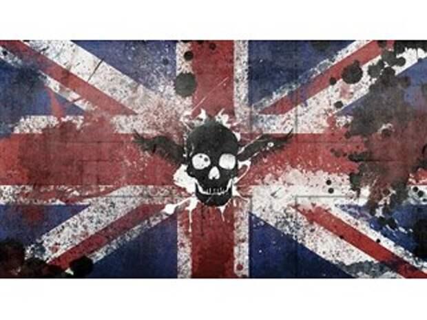 """Великобритания поднимает на мачту """"Веселого Роджера""""."""