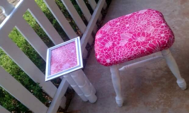 Поделки для интерьера: столик из банок и кашпо из ниток