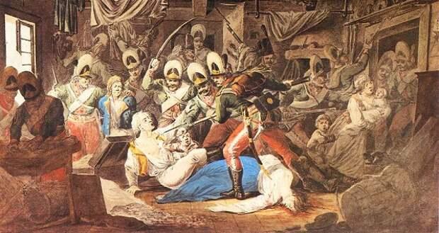 Солдаты, ворвавшиеся в Паргу.