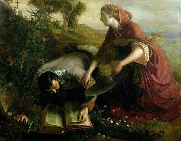 Джозеф Северн: Укрытие Библии, 1861 год. \ Фото: gallerix.ru.