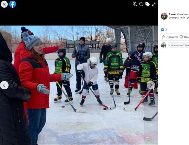 В хоккейном матче в честь закрытия сезона в Вологодском выиграла команда детей
