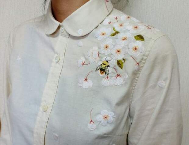 цветочная вышивка переделка одежды своими руками