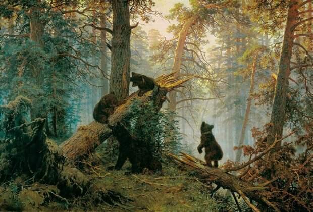 """Репродукция """"Утра в сосновом лесу""""  с сайта zen.yandex.com"""