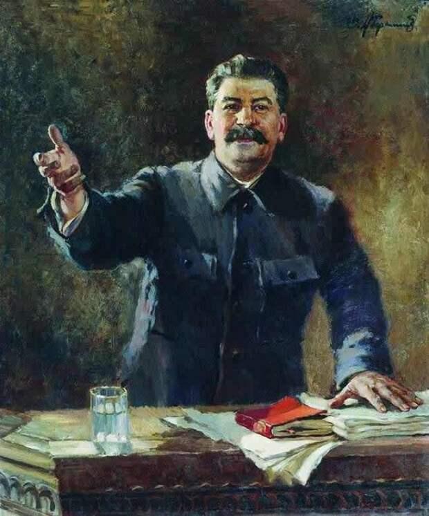 Портрет И.В. Сталина.