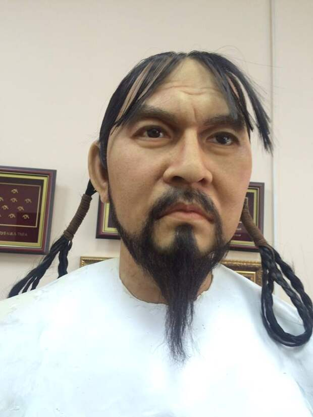 Восковая фигура полководца армии Чингис-Хана Субедея.