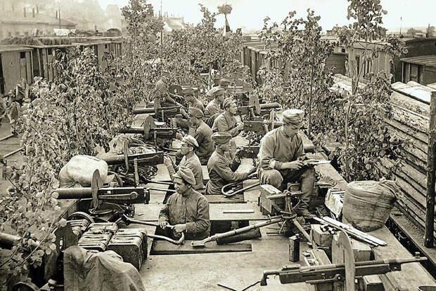 Пулеметная команда чехословаков в Красноярске, 1919 год