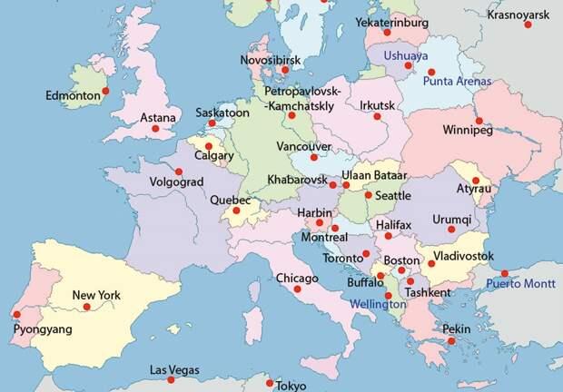 Необычная карта Европы