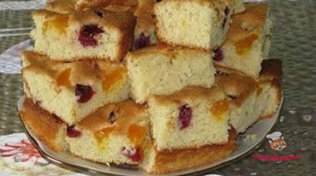 Пирог на МИНЕРАЛКЕ с ЯГОДАМИ