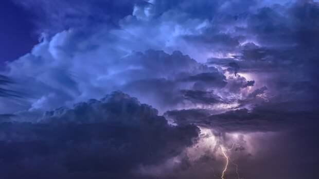 Гроза и сильный ветер ожидаются в Удмуртии в ближайшие сутки