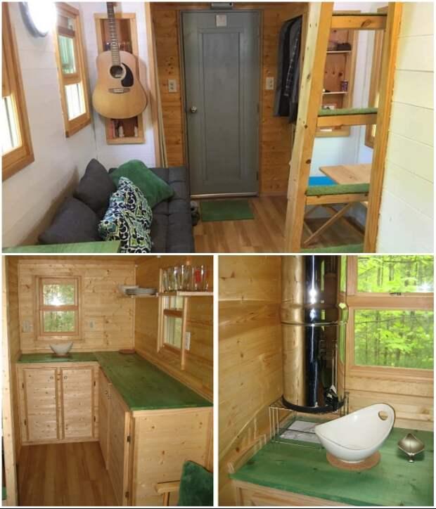 Несмотря на крошечные размеры, домик Лауры Лавуа и Мэтта вполне пригодный к проживанию. | Фото: 120squarefeet.com.