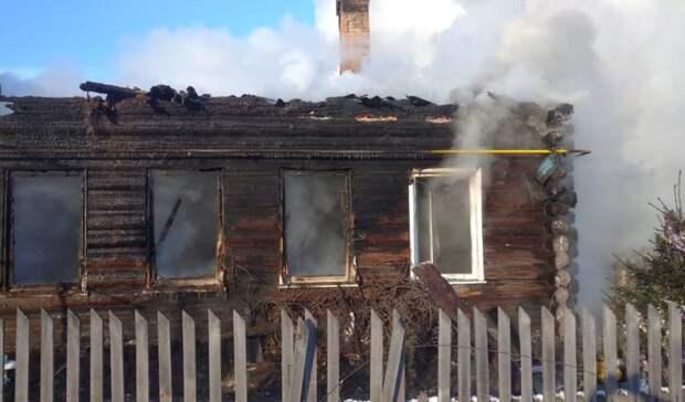 ВАсбесте многодетная семья лишилась дома из-за пожара