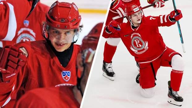 Забивает больше, чем молодой Панарин. 19-летний Бардаков выдал мощную голевую серию за «Витязь»