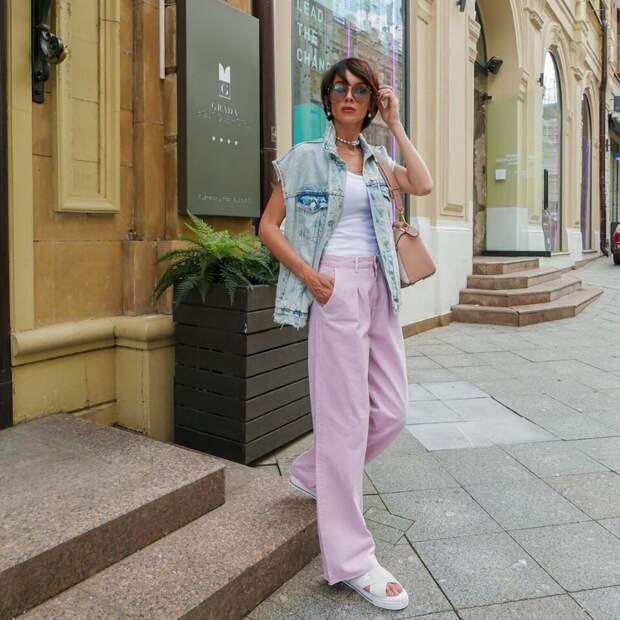 Брючное вдохновение: 20 идей как носить брюки летом