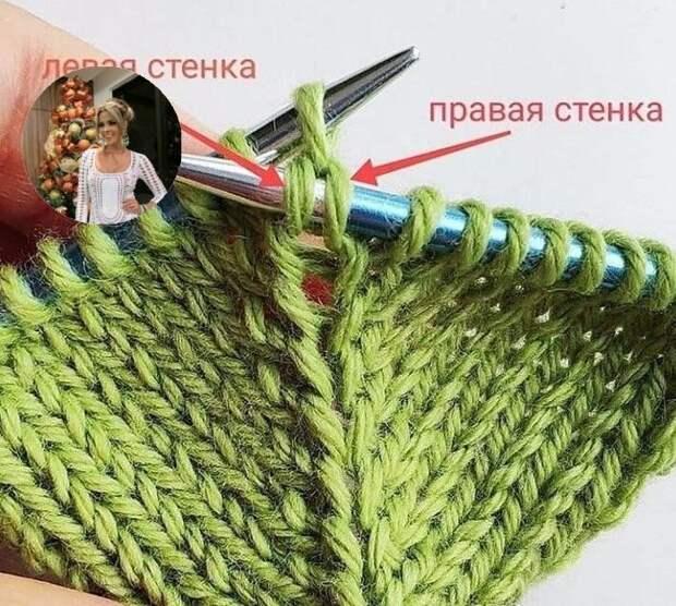 Прибавка петель без дырочек