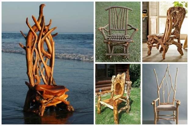 Когда из палок и коряжек получается чудо Фабрика идей, дом, коряги, красота, мастерство, мебель, палки, уют