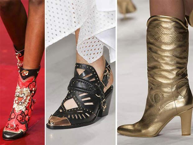 Ковбойские модели женской обуви - тенденции весна-лето 2015