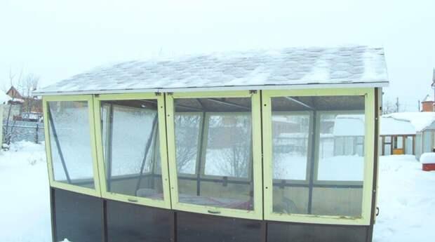 Час ломал голову, чем скинуть снег с крыши беседки голь на выдумки, крыша, юмор