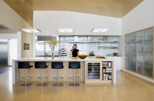 Классическая барная стойка для кухни