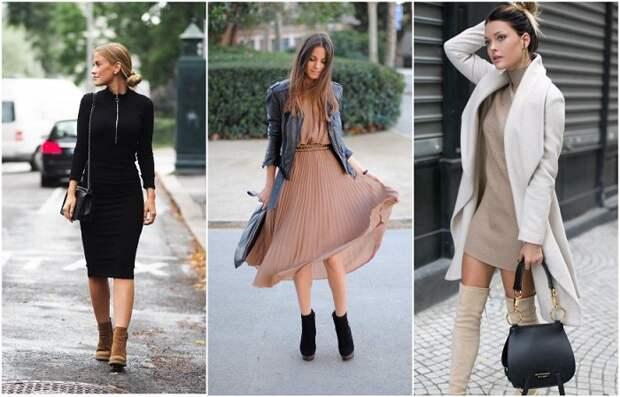 Лаконичные платья можно сочетать с чем угодно