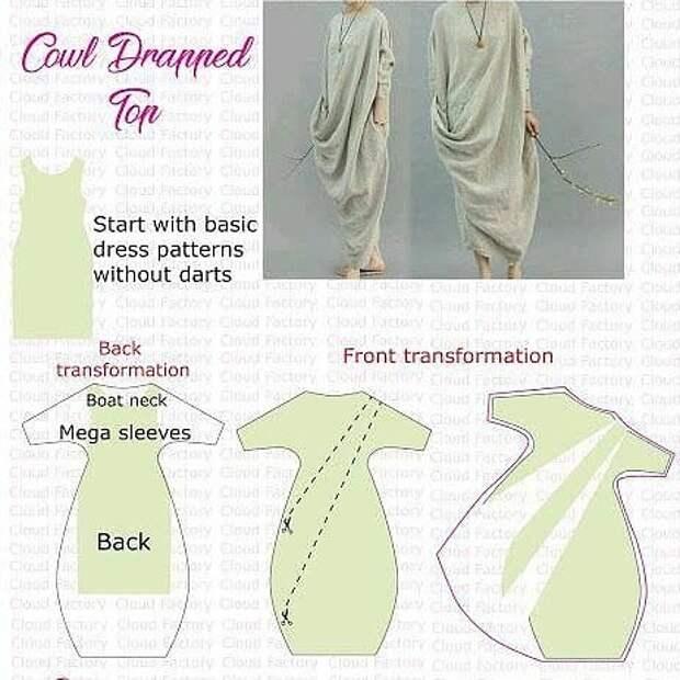 Моделирование бохо платья с драпировкой