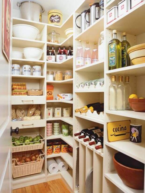 Удобное хранение продуктов на кухне: фото идеи 10