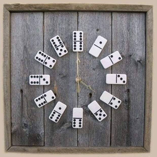 Часы из домино дача, идеи для дачи, мужская пещера, сделай сам