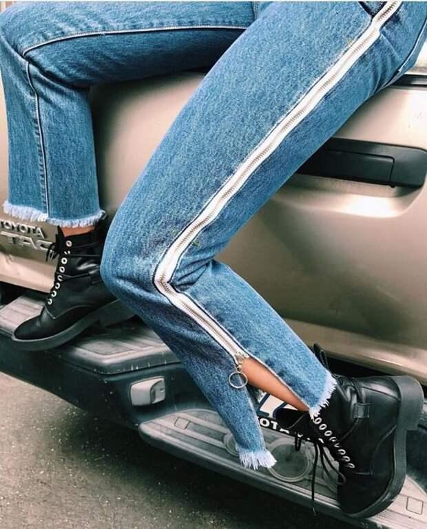 Отделки низа джинсов