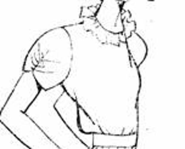 фасон короткого рукава с подрезом посередине и сборкой на линии подреза