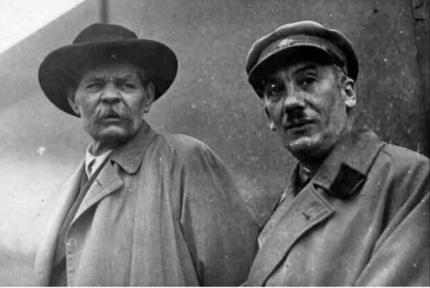 Максим Горький и Генрих Ягода. / Фото: www.ytimg.com