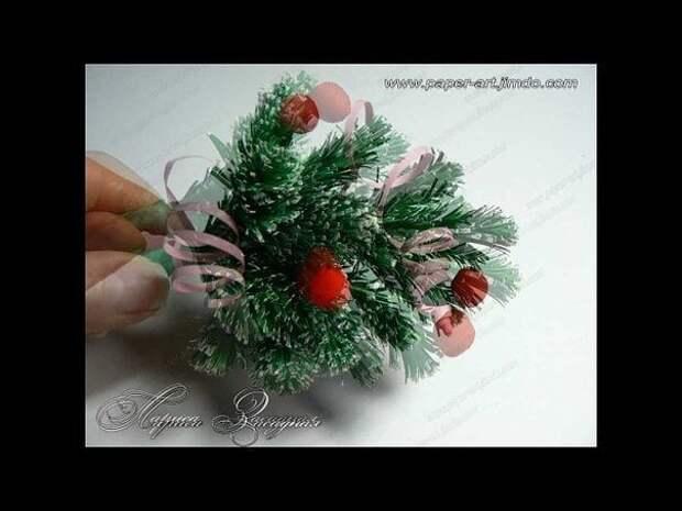 Веточка елки из бумаги. Мастер-класс