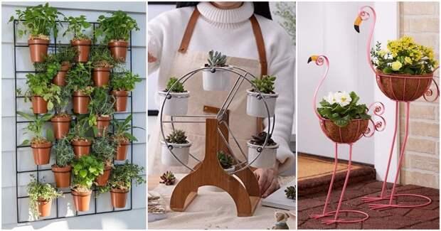 17 подставок для растений, чтобы эффектно показать все ваши комнатные растения
