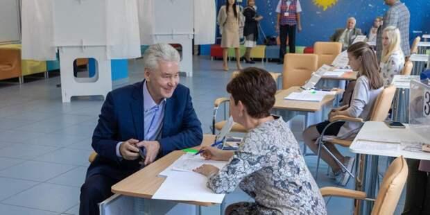 Собянин призвал горожан прийти на выборы в Мосгордуму. Фото: mos.ru