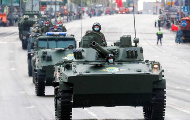 Видео приготовлений к репетиции Парада Победы в Москве