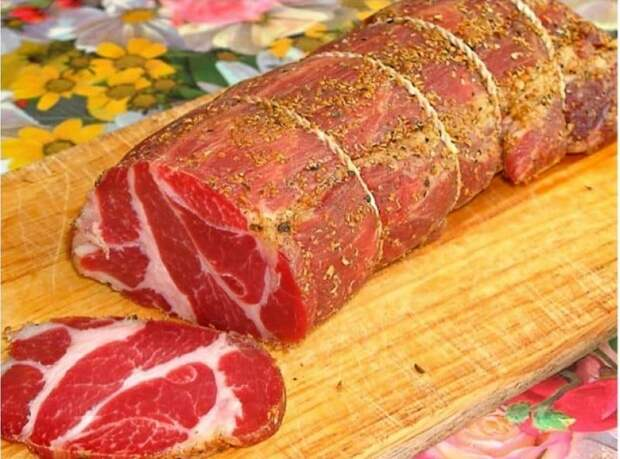 Сыровяленое чесночное мясо. Отличная закуска вместо сомнительно дорогой колбасы 6