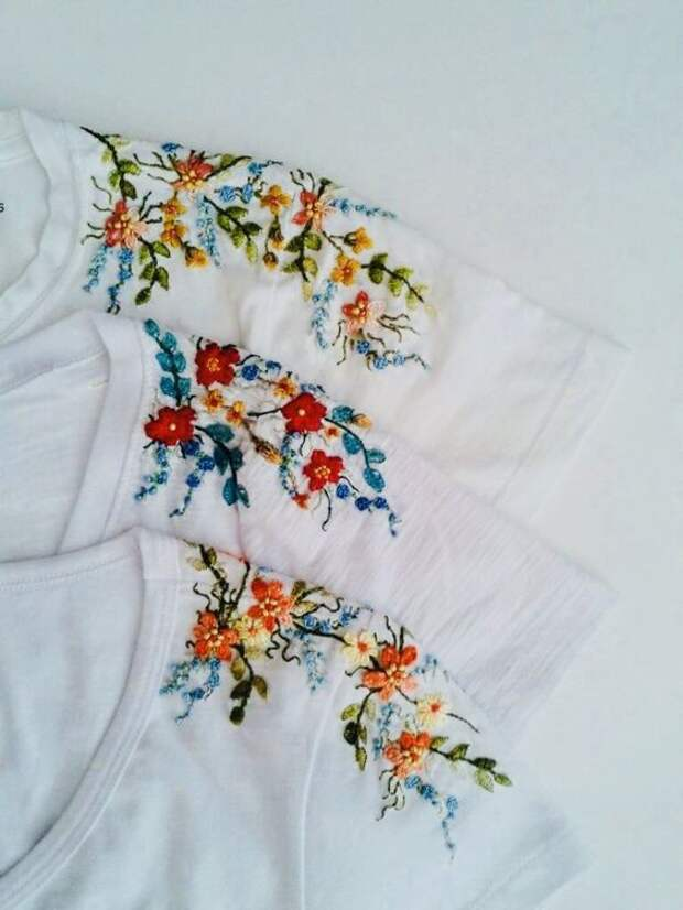 Вышивки на плечах (много)