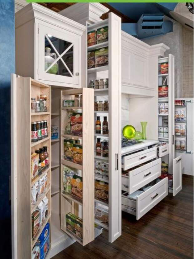 Удобное хранение продуктов на кухне: фото идеи 01